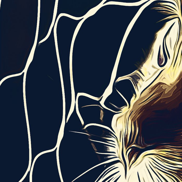 bengal cat yearns for freedom vector art foggy night Leggings
