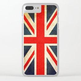 Vintage Union Jack British Flag Clear iPhone Case