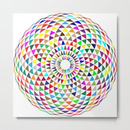 Multicolored Mandala Metal Print