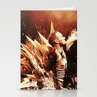 wesley bird Stationery Cards featuring Wesley Sneijder by Max Hopmans / FootWalls