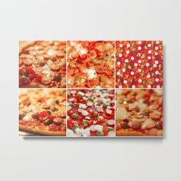 Fresh Hot Homemade Pepperoni Pizza Metal Print