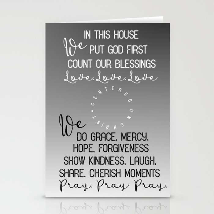 In This House We Put God First Count Our Blessings Quote