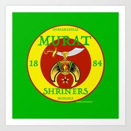 Murat Shriners, 1884, Yellow & Red Art Print