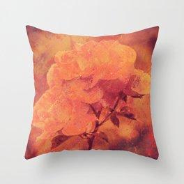 Rustic Rose  Throw Pillow