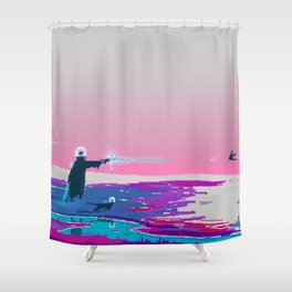 PHAZED PixelArt 4 Shower Curtain