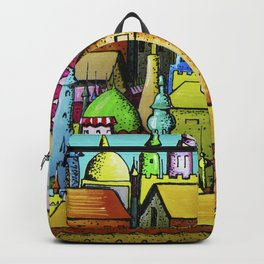 bright pattern of the houses ( https://society6.com/vickonskey/collection ) Backpack