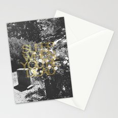 Sleep When You're Dead Stationery Cards