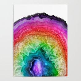 Rainbow Geode Poster