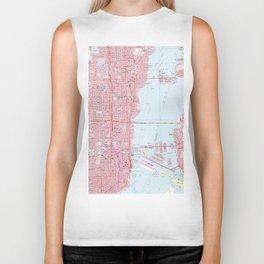 Vintage Map of Miami Florida (1962) Biker Tank
