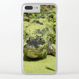 Swamp Gator Clear iPhone Case