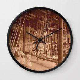 Weaving Mill Wall Clock