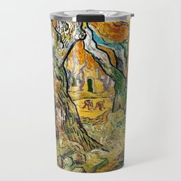 Road Works at Saint-Remy by Vincent van Gogh Travel Mug