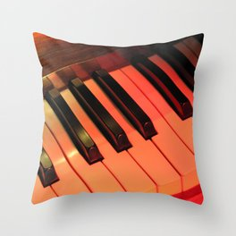 Spotlight on Piano Throw Pillow