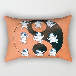 Pug Tai Chi Moves Rectangular Pillow