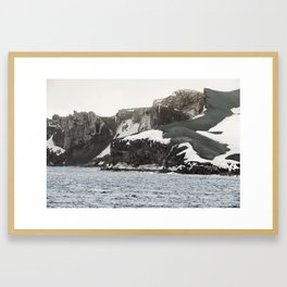 Deception Island, South Shetland Islands archipelago, northwest side of the Antarctic Peninsula. Framed Art Print
