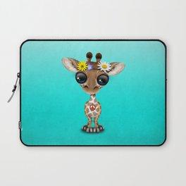 Cute Baby Giraffe Hippie Laptop Sleeve