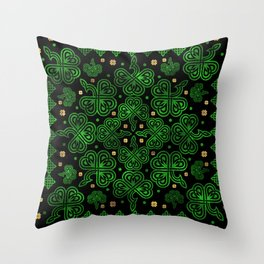 Shamrock Clover Ornament Throw Pillow