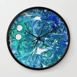Sea Leaves, Environmental Love of the Ocean Blue Wall Clock