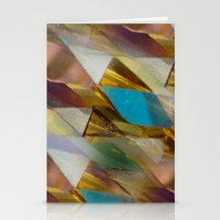 minerals Stationery Cards featuring Glow Geometry Minerals Pattern by mb13