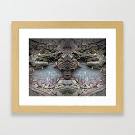 Mirrored Riverbed Framed Art Print