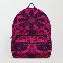 Red kaleidoscope pattern Backpack