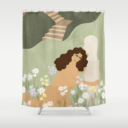 Dreaming of perfect man Shower Curtain