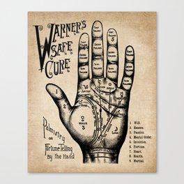 Warner's Safe Cure - Palmistry - Vintage Advertising - Palmreading - Fortune Tellings Canvas Print