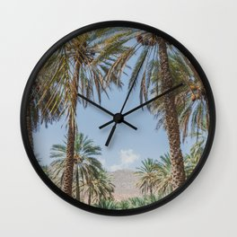 Date Palm Trees in Oman #3 Wall Clock