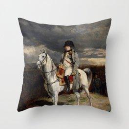 Napoleon Bonaparte On Horseback Throw Pillow