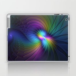 Colorful and Luminous, Abstract Fractals Art Laptop & iPad Skin