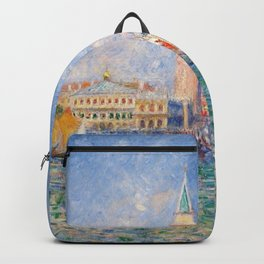The Palace of the Doge's & St. Mark's Square Venice Italy landscape painting by Pierre Renoir Backpack