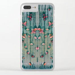 Cottage Roses Clear iPhone Case