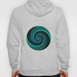Magical Teal Green Spiral Design Hoody