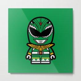 Power Chibi Green Ranger Metal Print
