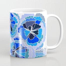 Floral Blue Coffee Mug