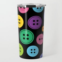Colorful Rainbow Buttons Travel Mug