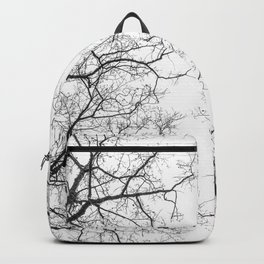 Black branches, white sky Backpack