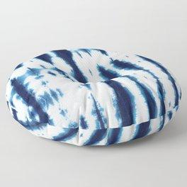 Linen Shibori Shirting Floor Pillow