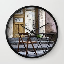 Table and Chairs - Catania - Sicily Wall Clock