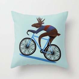 'Tis the season to be cycling Throw Pillow