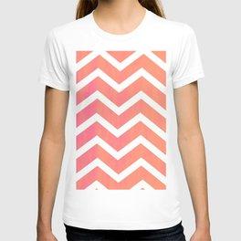 Patterned Chevron (Neon Peach) T-shirt