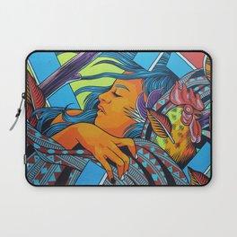 Urban Street Art: Vibrant Sleeper Mural Laptop Sleeve