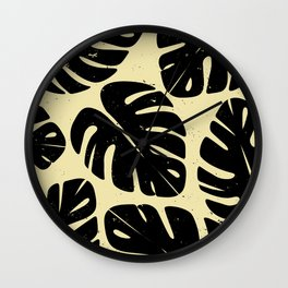 Monstera Leaf Print 2 Wall Clock
