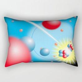 Splitting the Atom Cool Science Graphic Illustration Rectangular Pillow