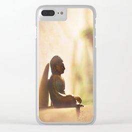 Dreaming Like Buddha Clear iPhone Case