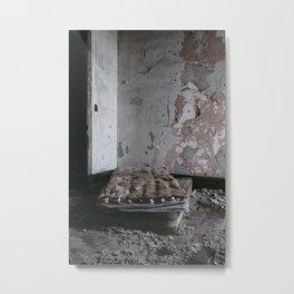 Mattresses In Abandoned Building Metal Print