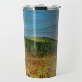 George Catlin - Ball-play of the Choctaw Travel Mug