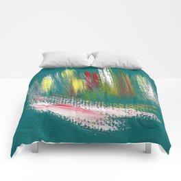 Cosmic blue turquoise Comforters
