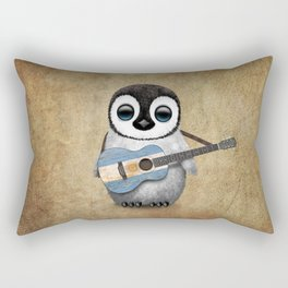 Baby Penguin Playing Argentine Flag Guitar Rectangular Pillow