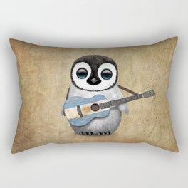 Baby Penguin Playing Argentine Flag Guitar Rectangular Pillow